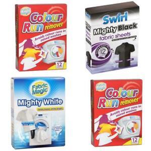 Fabric Magic Mighty White Black Colour Run Swirl Whitener Revive Stain Remover