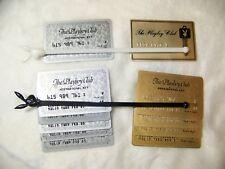 Vintage Playboy Club 10 Plastic Member Key Cards 1 Metal  PRESIDENTIAL KEY CARD