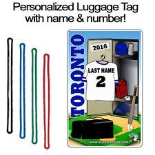 Personalized Toronto Baseball Luggage Tag