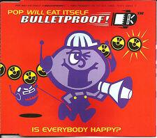 POP WILL EAT ITSELF & ADRIAN SHERWOOD Bulletproof 3 REMIXES &UNRELEASE CD single