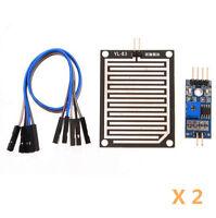 2Stk Neu Luftfeuchtigkeit Regentropfen Erkennung Sensor Regen  Modul für Arduino