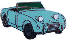 Austin Healey Sprite MkI (Bugeye) car cut out lapel pin  - lt. Blue