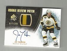 2007-08 SP Authentic Joe Thornton Rookie Review Patch Auto 027/100