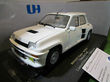 RENAULT 5 TURBO blanc all white one of kind 1/18 UNIVERSAL HOBBIES 4547 limitée