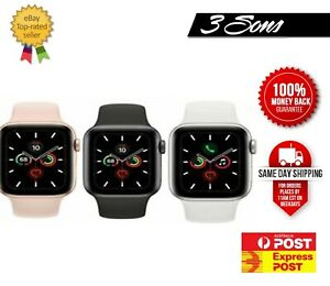 Apple Watch Series 5 Grey Silver Sport Band GPS + CELLULAR AU Stock Free Express