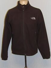 Men's The North Face Windwall Wind Resistent Fleece Jacket Brown Small EXCELLENT