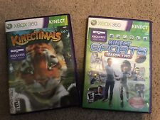 Lot of 2 Kinectimals Microsoft Xbox 360 2010 Kinect games TESTED / COMPLETE