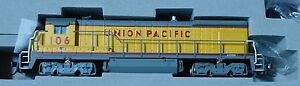 Atlas N #49765 GE B23-7 Low Nose - DC -- Union Pacific #106 (yellow, gray, red)