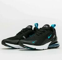 Nike Air Max 270 Black Blue Fury DD7120-001 Airmax Mens Shoes Running Sneakers