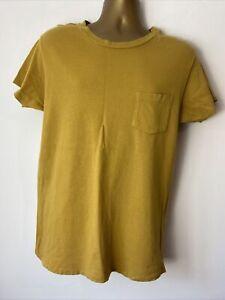 Levis Vintage Clothing LVC 1950s Sportswear T Shirt Mens Yellow 100% Cotton M