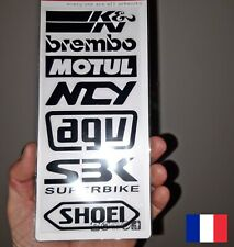 Autocollant SPONSORS stickers   MOTO CARENAGE  REF23