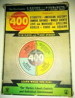 """1933 Vintage Board Game """"The 400"""" Trivia Etiquette USA MADE! Great VTG condition"""
