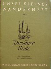Unser kleines Wanderheft Dresdner Heide Heft 9 1953