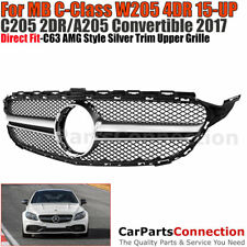 Front Grille C63 AMG Style MB 2015-2017 C Class W205 Base Sport Package Models