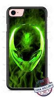 Alien Green Smoke Design Phone Case for iPhone Samsung Google LG HTC etc.