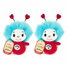 Thing 1 and Thing 2 Hallmark itty bittys Plush  Dr. Seuss  One & Two  Red Hearts