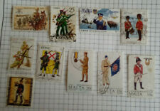 10 MILITARY STAMPS IN GOOD CONDITION