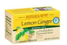 2 Pack Bigelo Lemon Ginger Probiotics, Herbal Tea, Tea Bags 18 Ct FAST SHIPPING