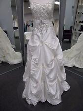 Mori Lee Wedding Dress size 20 ivory zipper GORGEOUS A-line strapless ROMANTIC!