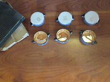 HTF Noritake Set of 6 Double Handled  Salt Dips in Original Box
