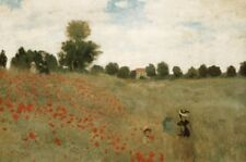 "Claude Monet art poster 24x36"" Cornfield Poppies classic art print"