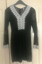 Namei Black and White lace dress size S