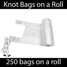 Knot Bags on a Roll Tie Handle - Food / Fruit / Vegetable / Meat Bag Supermarket