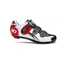 SIDI Genius 5 Fit Road Cycling Shoes Bike Shoes White/Black/Red Size 36-46 EUR