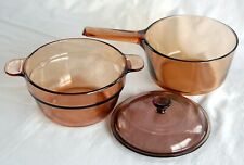 Visions Cookware ~ 1.5 Liter Double Boiler w Insert & Lid ~ Nice!