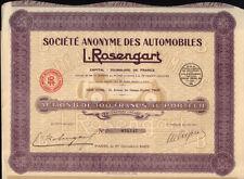 French Automobiles : L. ROSENGART ( TINTIN VOITURE / CAR ) Paris 1929 FRANCE