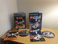 PS2 - PLAYSTATION 2LEGO STAR WARS BUNDLE 1&2 - COMPLETE WITH MANUAL - FREE P&P