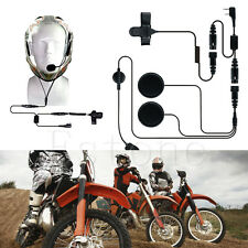 Full Face Close Motorcycle Helmet Earpiece Headset For Baofeng UV5R UV-B5 Radio