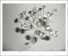 Popular 100pcs Diamante Pins Clear Wedding Buttonholes Bouquet Florist FlowerSHR