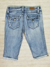 VIGOSS LONG SHORTS SLIM FIT Sz 7 STRETCH DISTRESSED JEANS ACTUAL 30X14 NICE I7