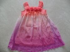 girls CHEROKEE SUMMER DRESS sun SHEER fancy coral white purple SIZE 2T flowers