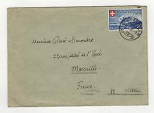 SUISSE Helvétia  1 timbre sur lettre 1939  /L761