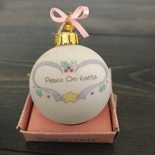"Precious Moments ""Peace on Earth"" Christmas Porcelian Ball Ornament"