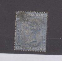 Natal QV 1874 3d Blue SG68 Used JK1686