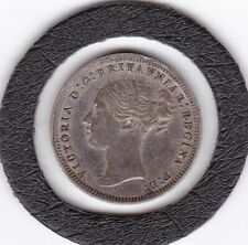 1873   Queen  Victoria  Threepence  (3d)  Silver (92.5%) Coin