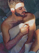 PRINT of Artwork Drawing Male Nude Gay Interest MCicconneT ~ RECONSIDER