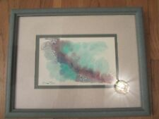 Sharon Maia Wilson signed original abstract landscape watercolor painting EC!