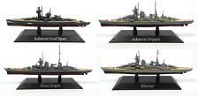 Set of 4 German military Heavy Cruisers Kriegsmarine Nazi WW2 - 1:1250 WSL7