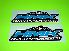 HMK USA .COM ATV SNOWMOBILE SLED SKIDOO POLARIS ARTIC CAT BLUE STICKERS DECALS