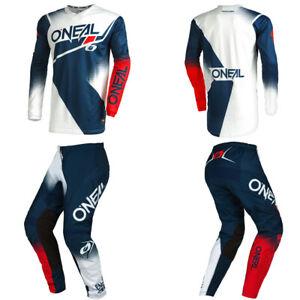 O'Neal Element Blue / Red Jersey Pants motocross MX dirt bike gear package set