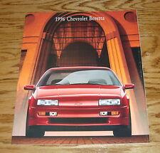Original 1996 Chevrolet Beretta Sales Brochure 96 Chevy