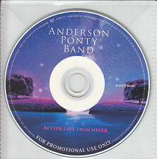ANDERSON PONTY BAND Better Late Than Never German 14-trk promo CD pvc slv JON