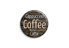 Boisson - capuccino coffee latte-1 - Badge 25mm Button Pin
