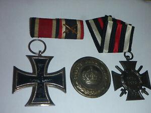 orig.Orden 1.Weltkrieg  EK2 Frontkämpferkreuz Spange Koppelschloss Auflage