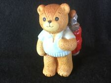 Vintage Enesco Lucy & Me Bear Figures Man Golf 1980's
