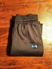 Under Armour Kids SweatPants Black with Blue Print Size Medium Storm Tech